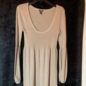 KENNETH COLE REACTION GOLD GLITTER DRESS